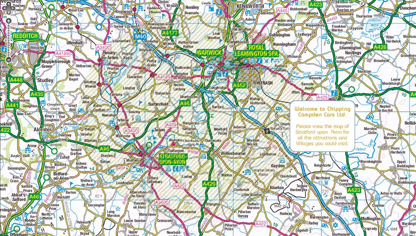 Map Of The Stratford Upon Avon And Shakespeare Tour